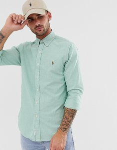 Read more about Polo ralph lauren oxford shirt slim fit button down multi player logo in green marl