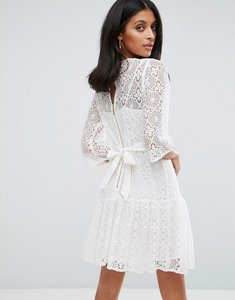 Read more about Closet london lace shift dress - white