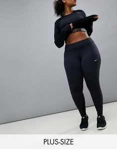 Read more about Nike plus running power epic luxe leggings in black - black reflective si