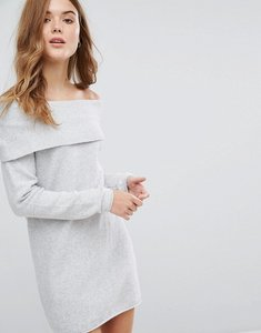 Read more about Only off the shoulder jumper dress - white