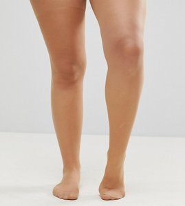 Read more about Asos design curve new improved fit 15 denier nude tights in golden bronze - beige