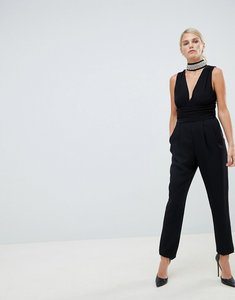 Read more about Forever unique tailored jumpsuit with embellished detail - black