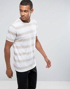 Read more about Mango man striped t-shirt in ecru - ecru
