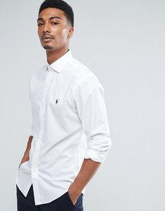 Read more about Polo ralph lauren shirt estate poplin slim fit in white - white