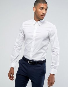Read more about United colors of benetton slim fit shirt with stretch in white - white
