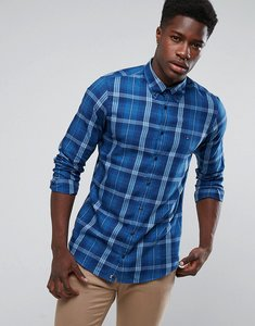 Read more about Tommy hilfiger einston check twill shirt buttondown in slim fit blue - blue
