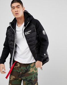 Read more about Aape by a bathing ape quilted jacket with hood - black