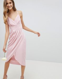 Read more about Ted baker tie the knot drape bridesmaid midi dress - pink