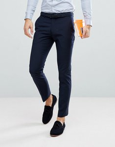 Read more about Farah skinny suit trousers in navy - navy