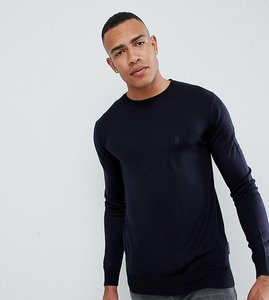 Read more about French connection tall plain logo crew neck knit jumper