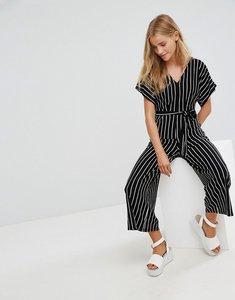 Read more about Bershka stripe batwing jumpsuit - black