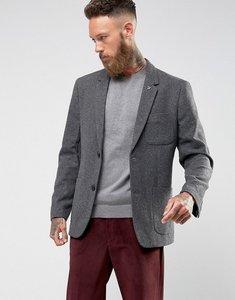 Read more about Farah lake plain wool blazer - grey