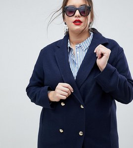 Read more about Helene berman plus military wool blend coat - navy