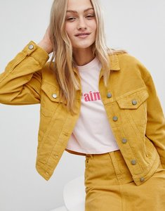 Read more about Asos cord jacket co-ord in mustard - mustard