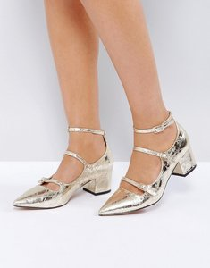 Read more about Asos sensational pointed heels - gold