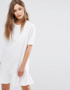 Read more about Jdy frill hem dress - white