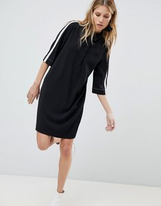 Read more about Mango side stripe tunic dress - black