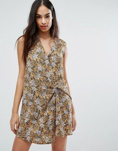 Read more about Missguided floral knot front mini dress - multi