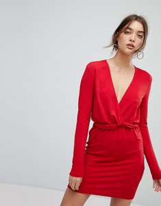 Read more about Ivyrevel long sleeved dress with ruffle waist - hot red
