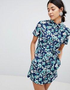 Read more about Uttam boutique floral print button front dress - multi