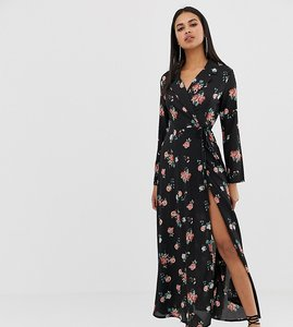 Read more about Prettylittlething wrap maxi dress in floral print