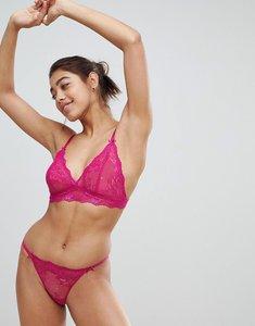 Read more about Lingadore lace bra and thong set - fuschia