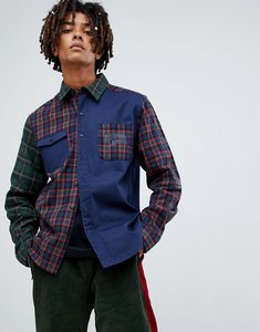 Read more about Billionaire boys club contrast check shirt in navy - navy