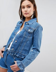 Read more about Parisian denim jacket with frill detail - m blue