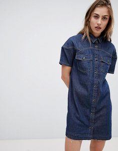 Read more about Levi s western denim dress with raw hem - super dark authentic