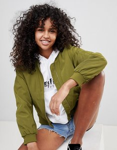 Read more about Monki bomber jacket - green