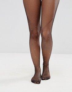 Read more about Asos embellished fishnet tights - black