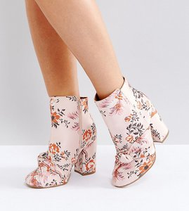 Read more about Asos erica wide fit ankle boot - jacquard