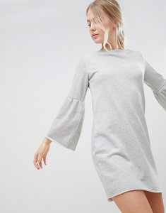 Read more about Jdy prove trumpet sleeve sweater dress - grey