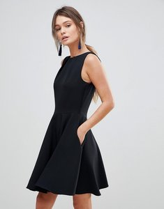 Read more about Closet london sleeveless skater dress - black