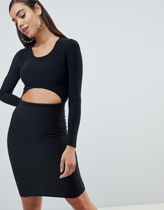 Read more about Missguided scoop neck cut out dress - black
