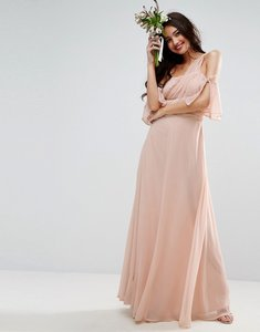Read more about Asos design one shoulder maxi dress - pink