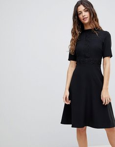 Read more about Oasis high neck skater dress - black