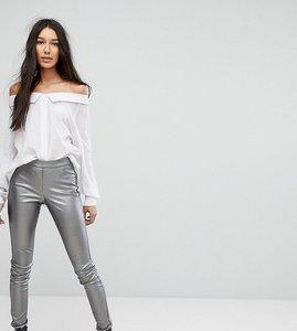 Read more about Vero moda tall high shine leggings - silver