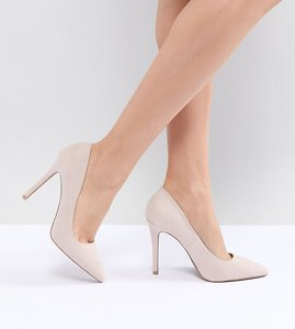 Read more about Qupid pointed high heeled shoes - beige