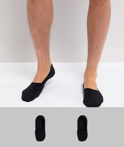 Read more about Calvin klein invisible loafer socks 2 pack - black