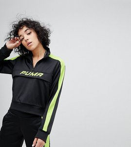 Read more about Puma exclusive to asos track jacket in black and neon green - black