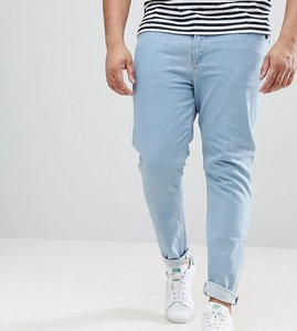 Read more about Asos plus skinny jeans in flat light wash - light wash blue