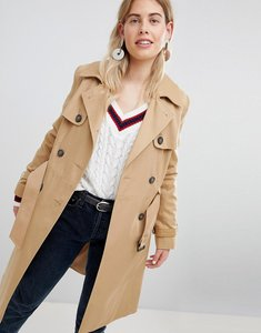 Read more about New look structured mac trench coat - stone