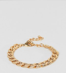 Read more about Designb large cable bracelet in gold exclusive to asos