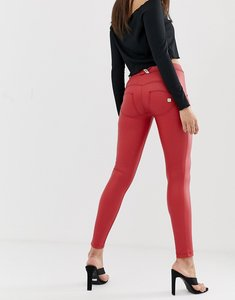Read more about Freddy wr up shaping effect mid rise leather skinny jean
