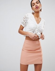 Read more about Fashion union tea blouse in lace - white lace