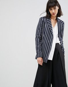 Read more about Asos tailored deconstructed blazer in pinstripe - stripe