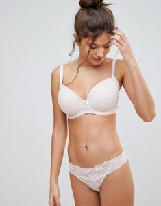 Read more about Ivory rose all over lace thong - pale pink
