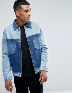 Read more about Liquor n poker cut and sew denim jacket - blue