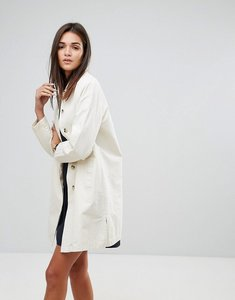 Read more about Ymc round collar mac coat - ecru